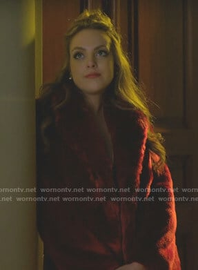 Fallon's red fur coat on Dynasty