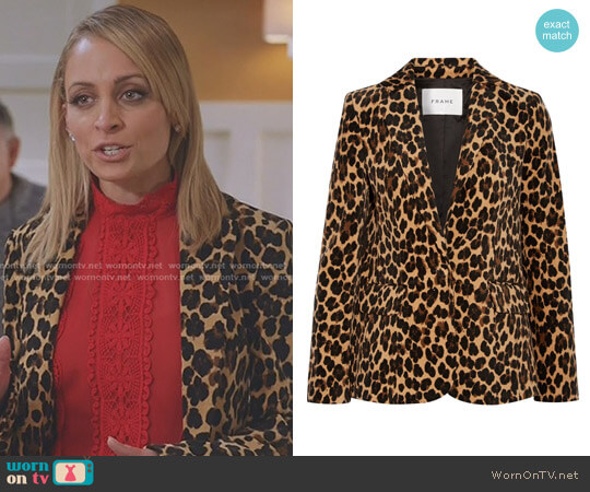 Leopard-Print Blazer by Frame worn by Nicole Richie on Great News
