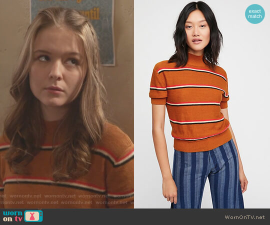 Way Back Mock Neck Sweater by Free People worn by Taylor (Izabela Vidovic) on The Fosters