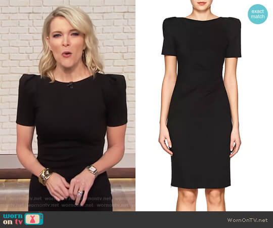 Jersey Puff-Sleeve Sheath Dress by Giorgio Armani worn by Megyn Kelly on Today