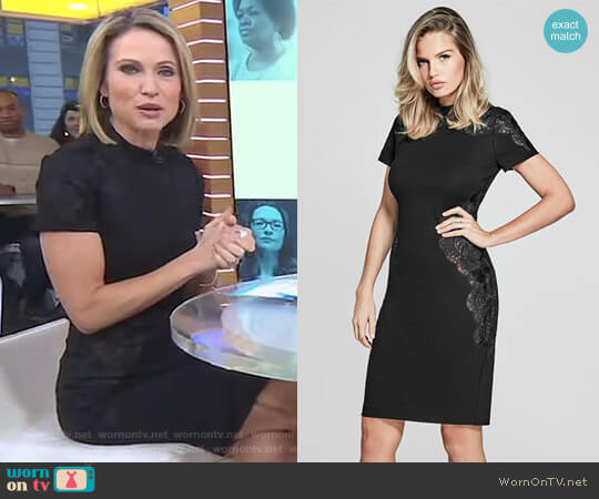 'Hamor' Lace Dress by Guess worn by Amy Robach  on Good Morning America