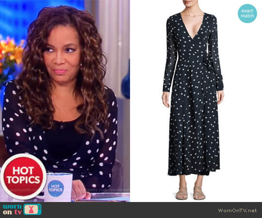 Marceau Goergette Wrap Dress by Ganni worn by Sunny Hostin on The View