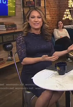 Ginger's navy lace maternity dress on Good Morning America