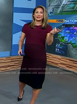 Ginger's red ombre maternity dress on Good Morning America
