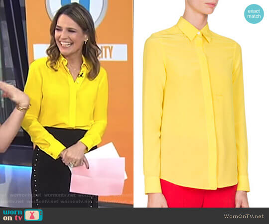 Crepe de Chine Blouse by Givenchy worn by Savannah Guthrie on Today