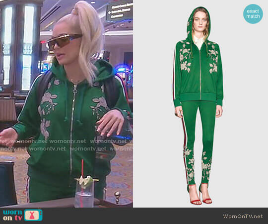 Felpa ricamata in jersey by Gucci worn by Erika Girardi (Erika Girardi) on The Real Housewives of Beverly Hills