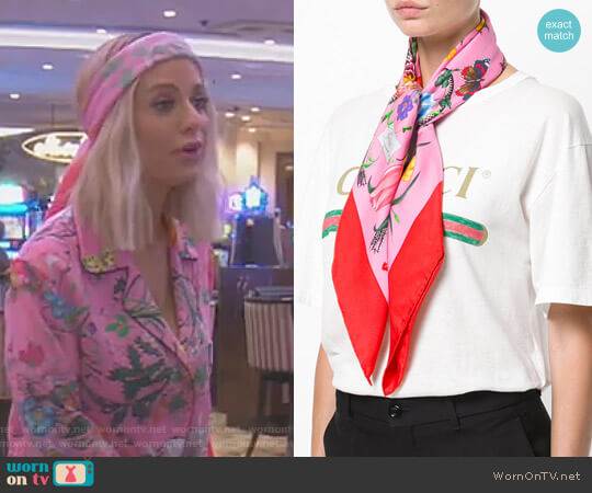 Floral Snake Print Scarf by Gucci worn by Dorit Kemsley  on The Real Housewives of Beverly Hills