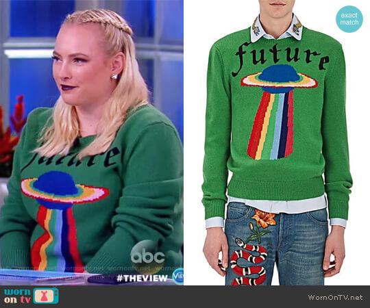 Meghan Mccain 2018: WornOnTV: Meghan's Green Ufo Sweater On The View