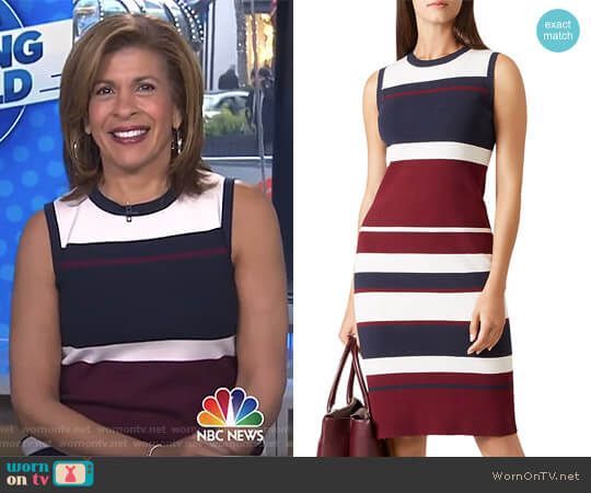 Grace Block-Stripe Dress by Hobbs worn by Hoda Kotb (Hoda Kotb) on Today