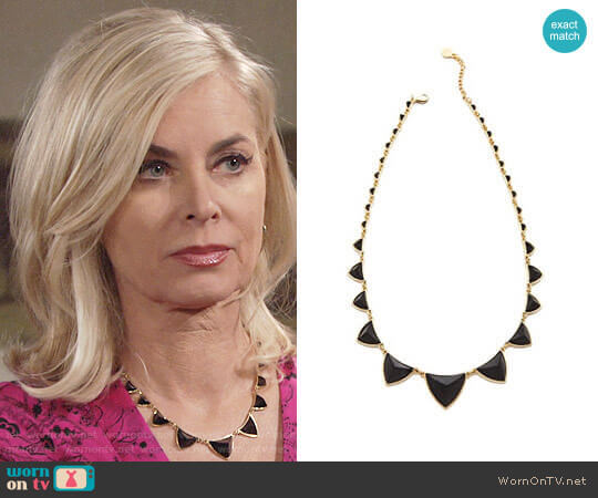 House of Harlow Pyramid Station Necklace worn by Ashley Abbott (Eileen Davidson) on The Young & the Restless