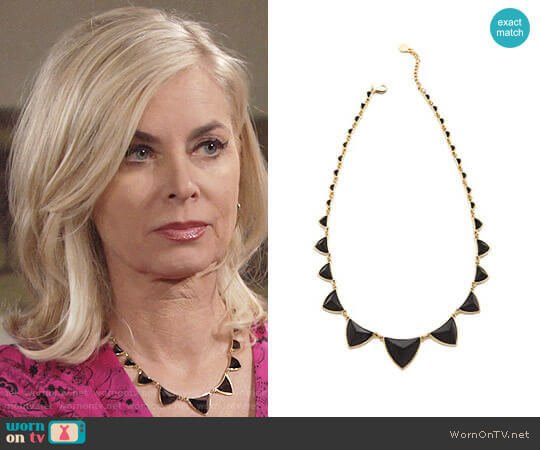 House of Harlow Pyramid Station Necklace worn by Eileen Davidson on The Young & the Restless