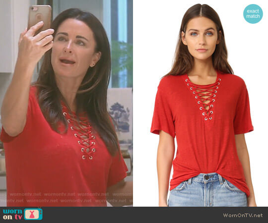 'Imis' Tee by Iro  worn by Kyle Richards on The Real Housewives of Beverly Hills