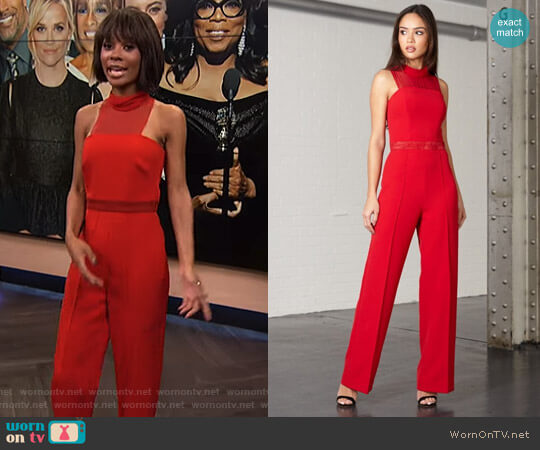 'Riley' Jumpsuit by Joe's Jungle worn by Zuri Hall (Zuri Hall) on E! News
