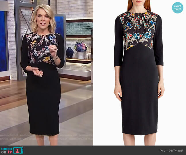 Ponte Floral Long Sleeve Day Dress by Jason Wu worn by Megyn Kelly  on Today