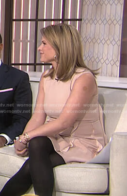 Jenna's pink ruffled sleeveless dress on Today