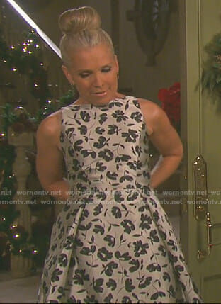 Jennifer's metallic floral gown on Days of our Lives