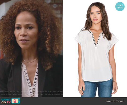 Bosi Top by Joie worn by Lena Adams Foster (Sherri Saum) on The Fosters