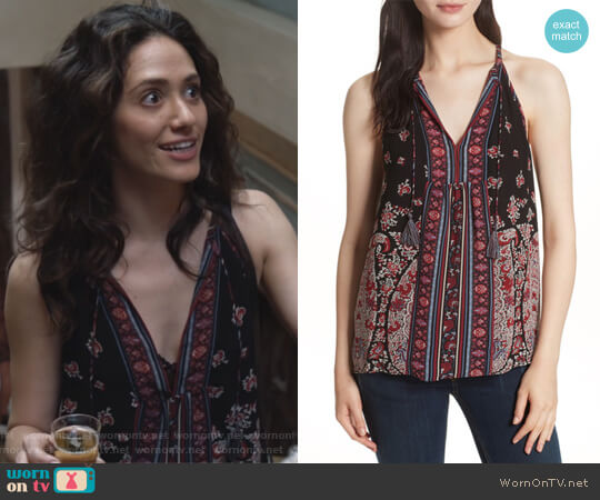 Shara Silk Blouse by Joie worn by Fiona Gallagher (Emmy Rossum) on Shameless