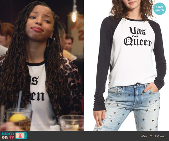 Yas Queen Tee by Juicy Couture worn by Chloe Bailey on Grown-ish