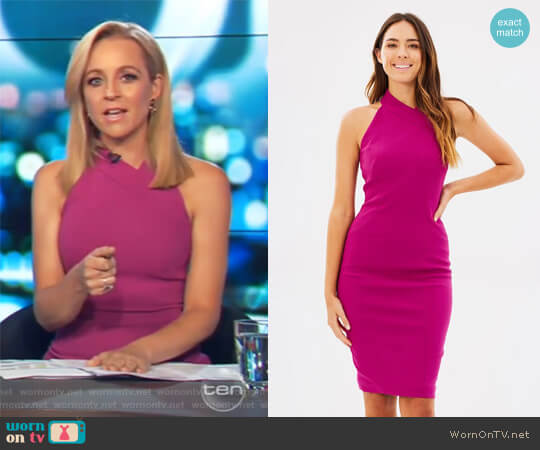 Cut-Out Pencil Dress by Karen Millen worn by Carrie Bickmore on The Project