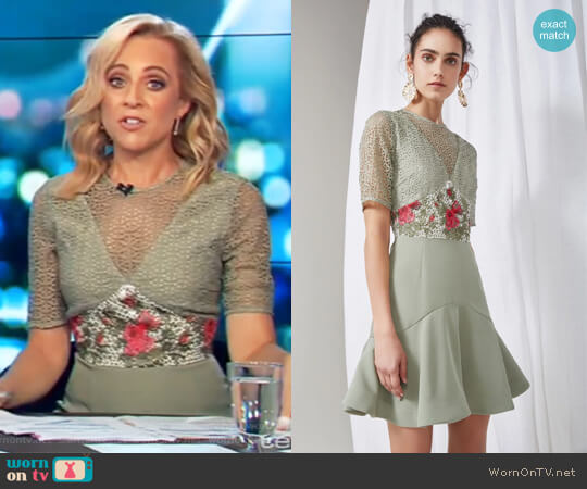 Rosebud Mini Dress by Keepsake worn by Carrie Bickmore (Carrie Bickmore) on The Project
