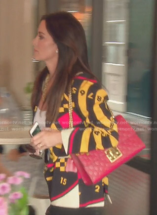 Kyle's Dartboard Print Jacket on The Real Housewives of Beverly Hills