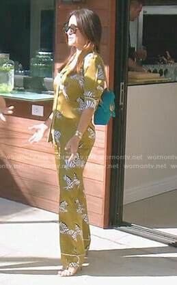 Kyle's yellow zebra print pajamas on The Real Housewives of Beverly Hills