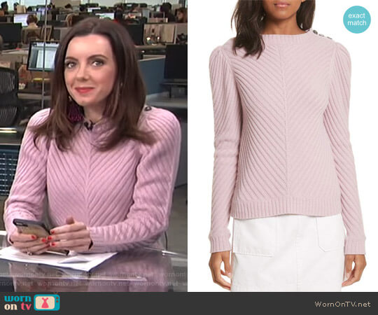 Ribbed Knit Pullover by La Vie Rebecca Taylor worn by Melanie Bromley  on E! News