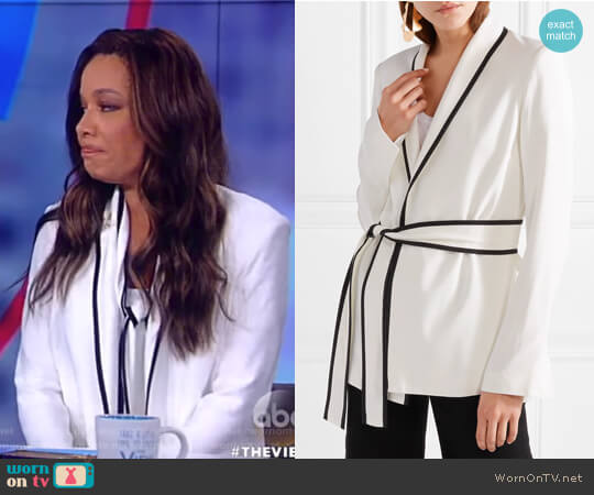 Le Tuxedo crepe wrap jacket by La Ligne worn by Sunny Hostin (Sunny Hostin) on The View