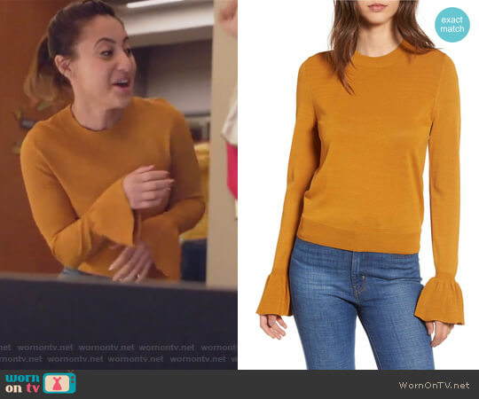 Flare Cuff Sweater by Leith worn by Ana Torres (Francia Raisa) on Grown-ish
