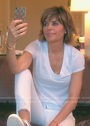 Lisa's snake print phone case on The Real Housewives of Beverly Hills