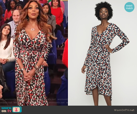 Cherry Print Wrap Dress by Long Tall Sally worn by Wendy Williams on The Wendy Williams Show