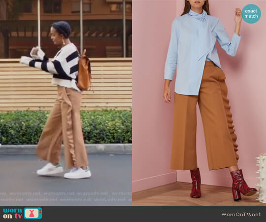 Trouser with Ruffles by MSGM worn by Yara Shahidi on Grown-ish