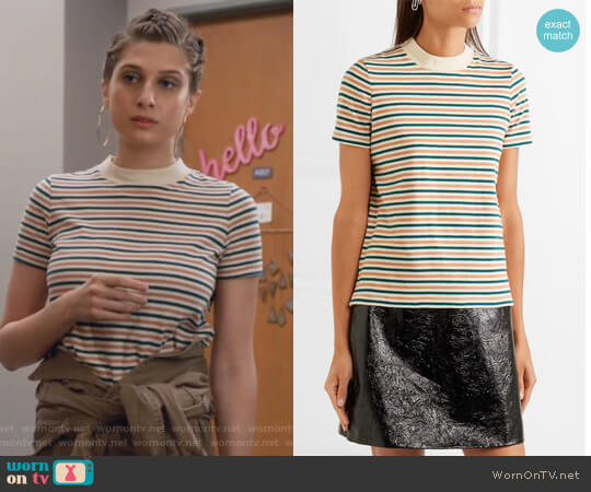 Striped cotton T-shirt by Madewell worn by Emily Arlook on Grown-ish