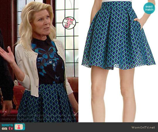 Maje Jungla Lace Skirt worn by Pamela Douglas (Alley Mills) on The Bold & the Beautiful