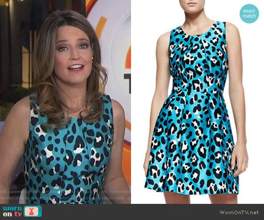 Animal-Print Bell Dress by Michael Kors worn by Savannah Guthrie  on Today