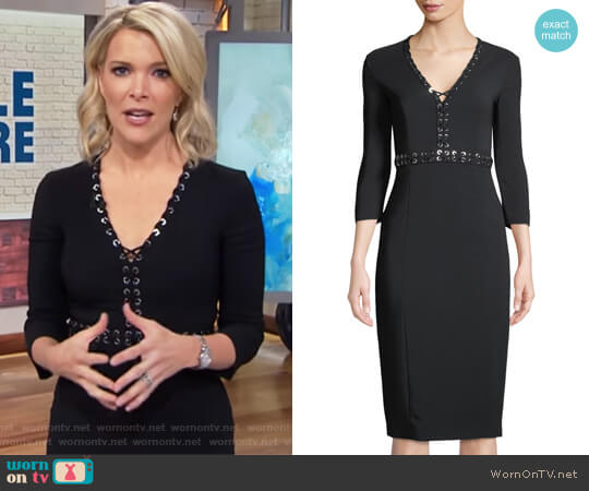 Grommet-Trimmed Long-Sleeve Dress by Michael Kors worn by Megyn Kelly on Today