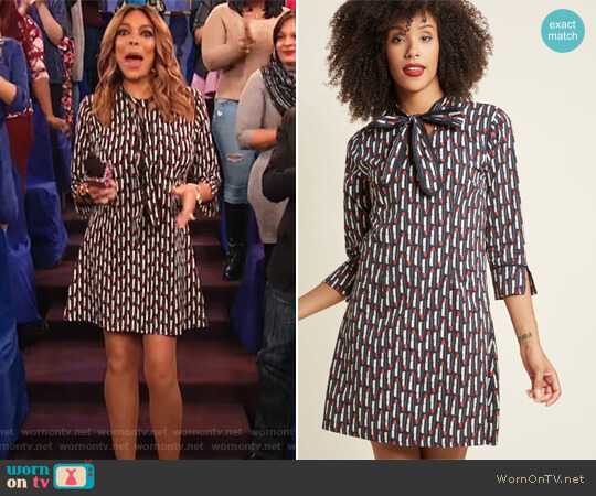 Pucker Up! Cotton Shift Dress by Modcloth worn by Wendy Williams on The Wendy Williams Show