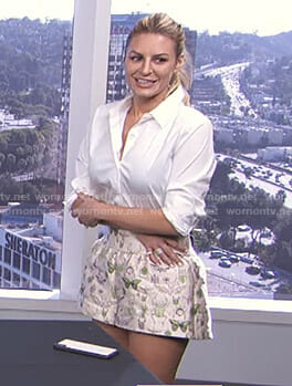 Morgan's insect print shorts on E! News Daily Pop