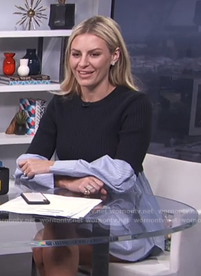Morgan's striped layered top on E! News Daily Pop