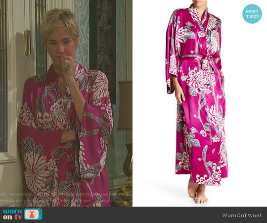 Aizome Print Robe by Natori worn by Kassie DePaiva on Days of our Lives