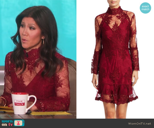 Octavia Laced Mini Dress by Nicholas worn by Julie Chen  on The Talk