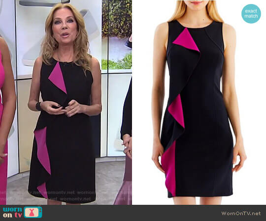 Ruffled Sheath Dress by Nicole Miller worn by Kathie Lee Gifford  on Today