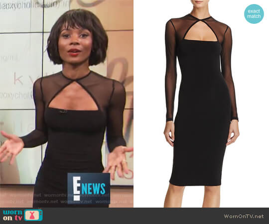 Tina Mesh-Detail Midi Dress by Nookie worn by Zuri Hall  on E! News