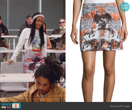 Western Mini Cotton Skirt by Opening Ceremony worn by Yara Shahidi on Grown-ish