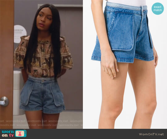 Inside Out Shorts by Opening Ceremony worn by Yara Shahidi on Grown-ish