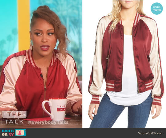 Los Feliz Tigers Bomber Jacket by Pam & Gela worn by Eve on The Talk
