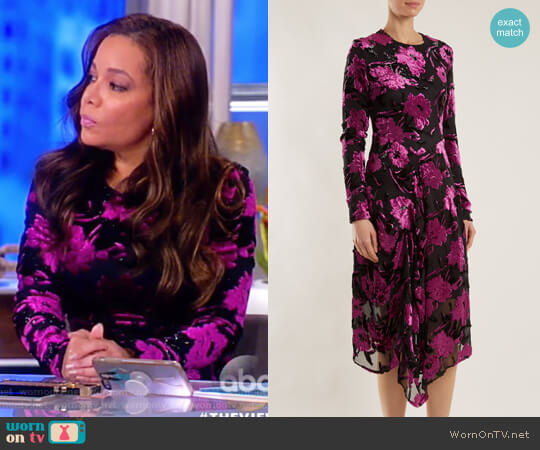 Alyssa floral-devore midi dress by Preen by Thornton Bregazzi worn by Sunny Hostin  on The View