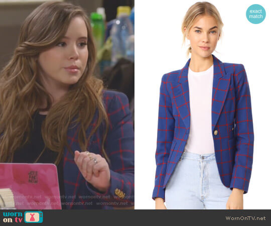 Patch Pocket Duchess Blazer by Smythe worn by Kendra Gable (Taylor Spreitler) on Kevin Can Wait