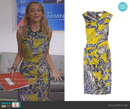 Mar Printed Stretch-Silk Dress by Peter Pilotto worn by Briga Heelan on Great News